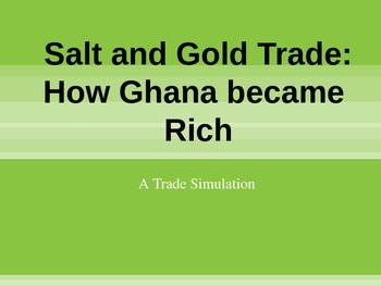 African Gold and Salt Trade - Simulation