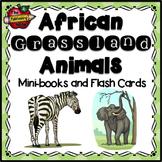 African Grassland Animals Mini-books and Flashcards