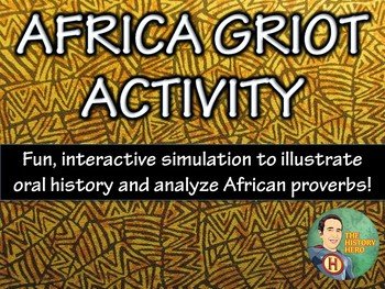 Africa Griot Activity and Questions