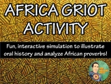 Africa Griot Activity and Ticket Out The Door