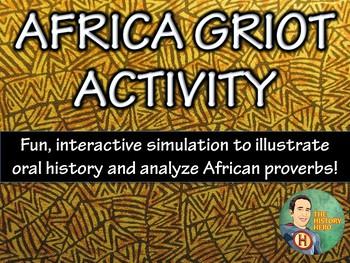 African Griot Activity