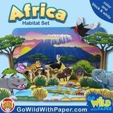 African Habitat Craft Activity | African Waterhole Habitat