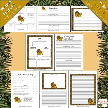 African Animals and Habitats Unit {K-2nd CCSS Informative Writing}