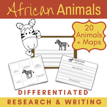African Animals Habitats Research, Writing, Maps, and Crafts