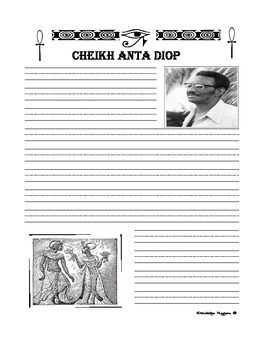 African Historian Series Cheikh Anta Diop Notebooking Pages