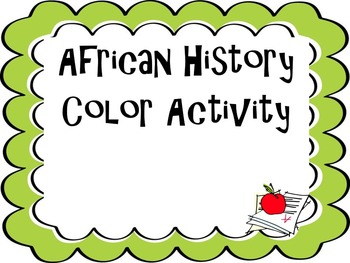 African History Color Activity