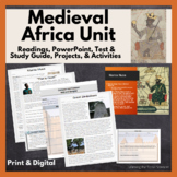 African History to 1700 Unit Bundle PowerPoint, Test, Projects, Readings, & More