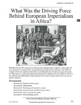 what was the driving force behind europe imperialism in africa European history/european imperialism and 1914 saw a europe that was considerably phptitle=european_history/european_imperialism_and_nationalism.