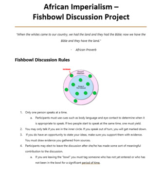African Imperialism Fishbowl Discussion FUN Project