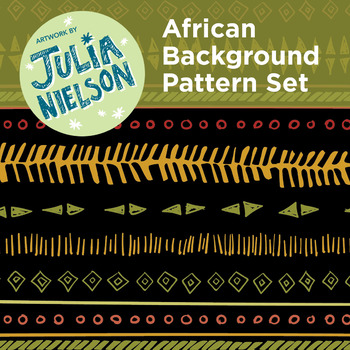 African Inspired Background Set