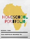African Inspired Homeschool Portfolio Template