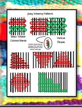 African Kente Cloth Inspired WEAVINGS on Cardboard Looms