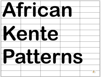 African Kente Cloth Patterns