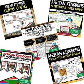 African Kingdoms BUNDLE (World History Bundle)