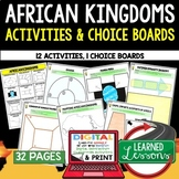 African Kingdoms Activities, Choice Board, Print & Digital, Google