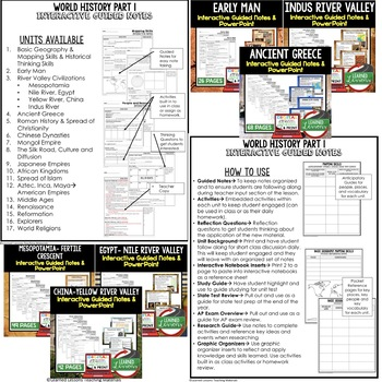 African Kingdoms Guided Notes and PowerPoints, Interactive Notebooks, Google