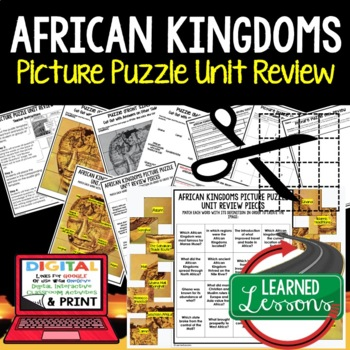 African Kingdoms Picture Puzzle Unit Review, Study Guide, Test Prep