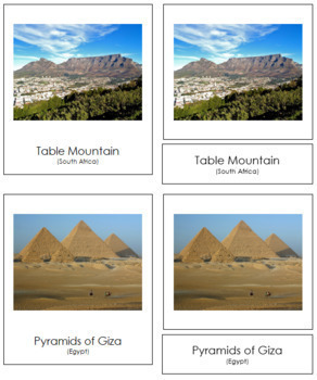 African Landmarks: 3-Part Cards