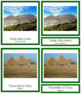 African Landmarks: 3-Part Cards (color borders) - Montessori