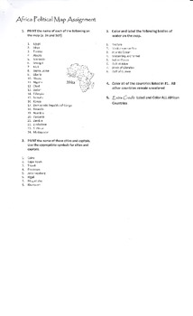 African Map Labeling Assignment