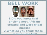 African Mask Lesson and Mask Making 2 Day Activity
