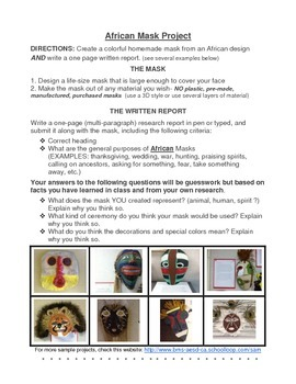 African Mask Project
