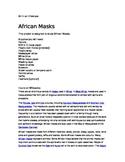 African Masks- Elementary