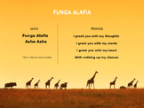 World Music (Africa) Lesson Plan (Funga Alafia) Bundle (Po