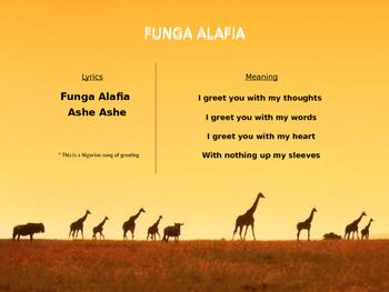 World Music (Africa) Lesson Plan (Funga Alafia) Powerpoint Slides