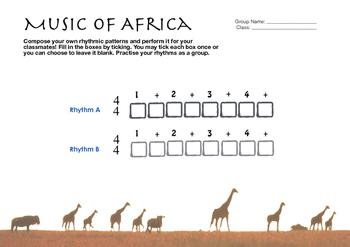 World Music (Africa) Lesson Plan (Funga Alafia) Worksheet