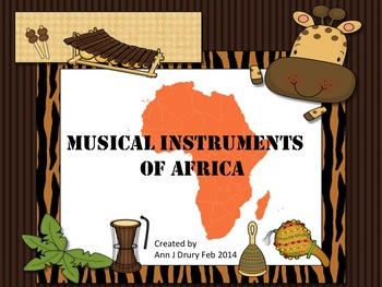 African Musical Instrument Display Cards