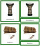 African Musical Instruments: 3-Part Cards (color borders)