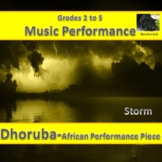 African Percussion Performance Piece - Dhoruba (Storm) - G