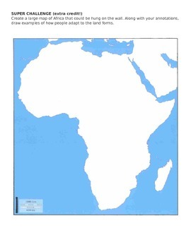 African Physical Map
