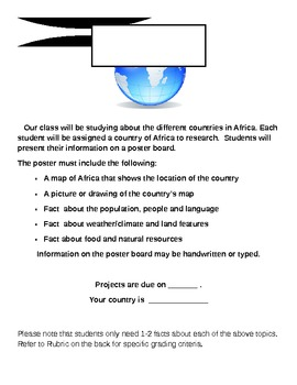 African Project with Rubric