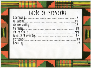 African Proverbs in the Classroom