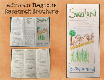African Regions Research Brochure - Informational Writing and Social Studies!