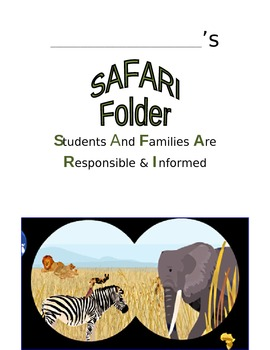 African SafarI Foler Cover & Job Cards