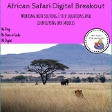African Safari 1 step Equation Digital Breakout
