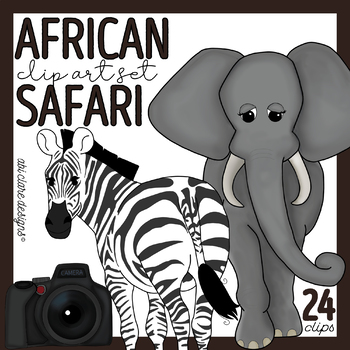 African Safari Clip Art Set