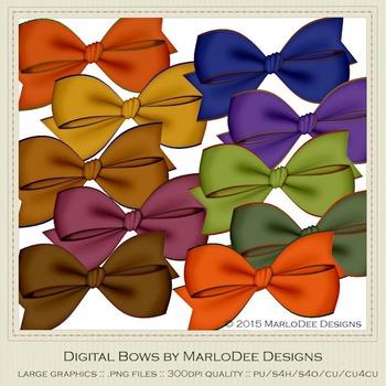 African Safari Colors Digital Bow Graphics package 1