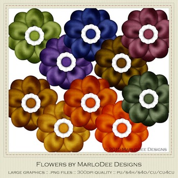 African Safari Colors Digital Flower Graphics