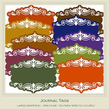 African Safari Colors Digital Journal Tag Graphics package 1