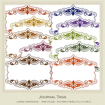 African Safari Colors Digital Journal Tag Graphics package 2
