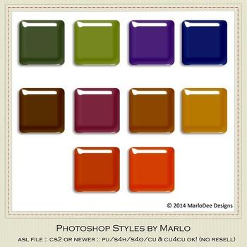African Safari Colors Gloss Photoshop Style