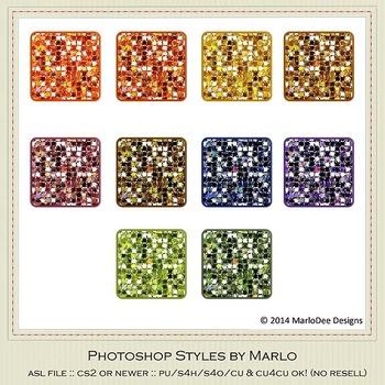African Safari Colors Marlo Glitter Photoshop Styles