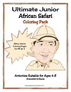African Safari Junior Coloring Book