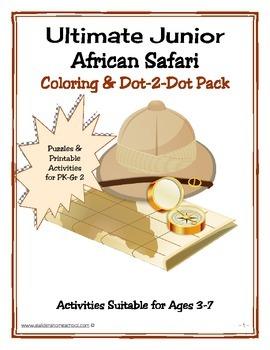 African Safari PreK Coloring Activity Book