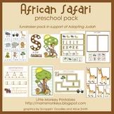African Safari Preschool Pack