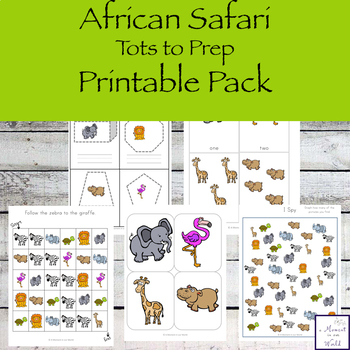 African Safari Tots to Prep Pack